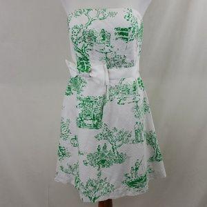 Lily Pulitzer Amberly Strapless Dress sz 8